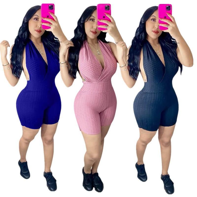 Sleeveless Romper Womens-model view