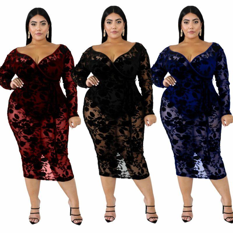 Black Plus Maxi Dress - main pictuire