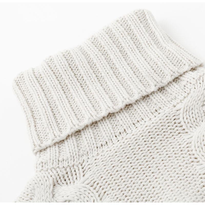 Plus Size White Sweater - white detail picture