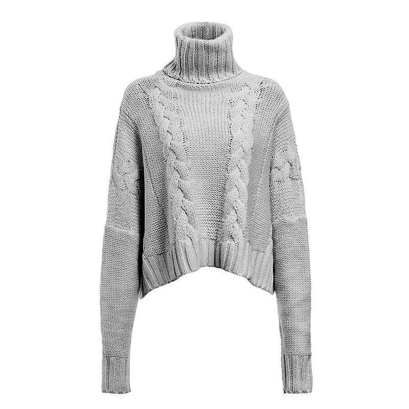 Plus Size White Sweater - gray positive
