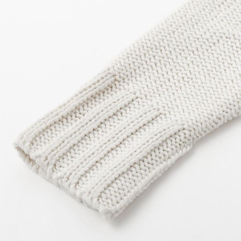 Plus Size White Sweater - white cuff