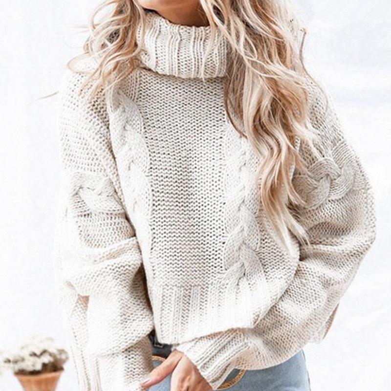 Plus Size White Sweater - white main picture