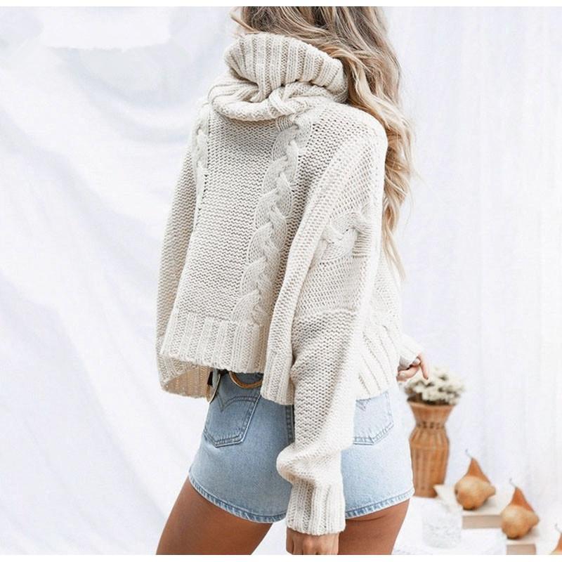 Plus Size White Sweater - white back