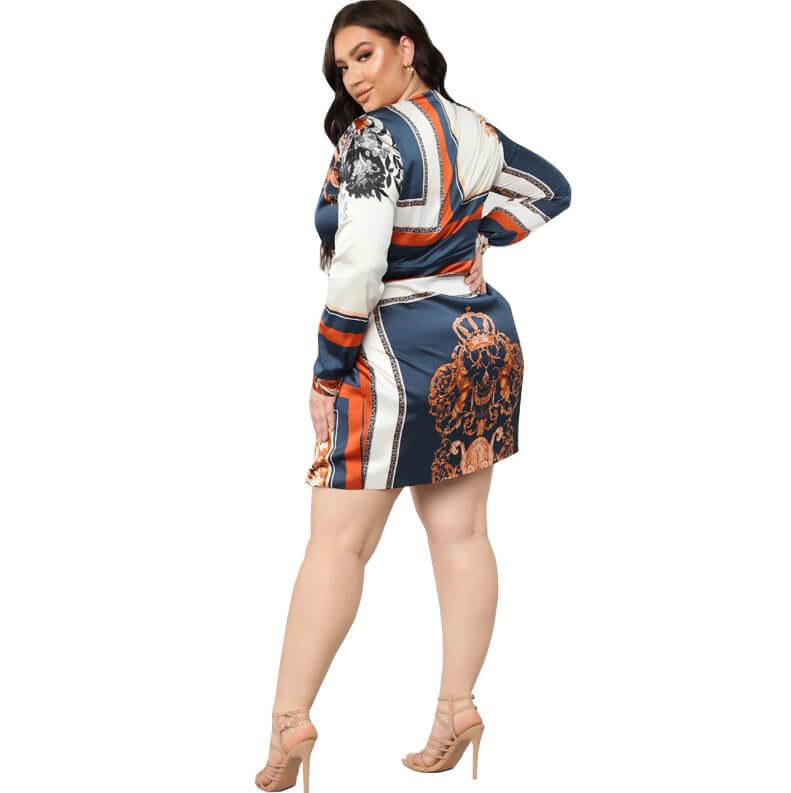 Cheap Plus Size Dresses For Special - dark blue back