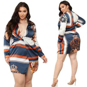 Cheap Plus Size Dresses For Special - dark blue main picture