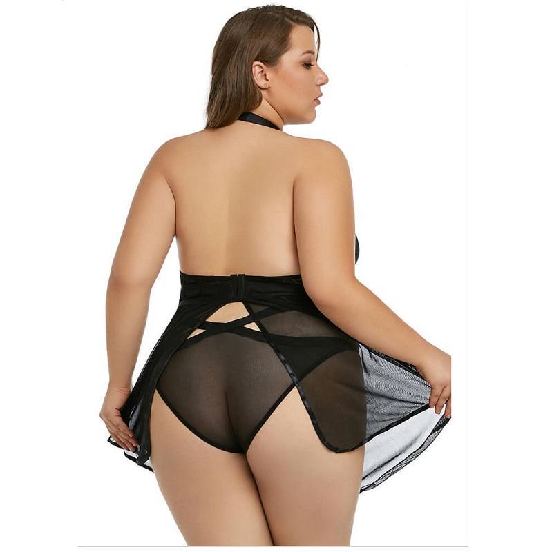 Plus Size Nighties - black back
