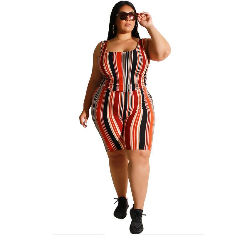 Plus Size Women Yoga Sportswear Sets - red color