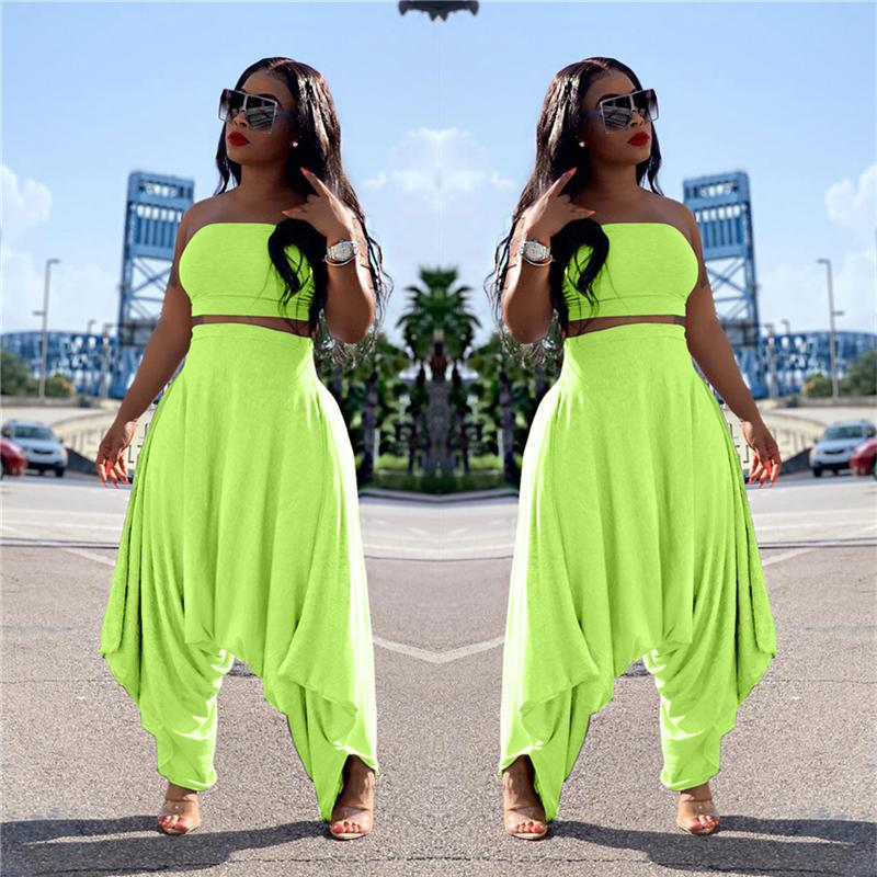 Two Piece Sets Women - green color