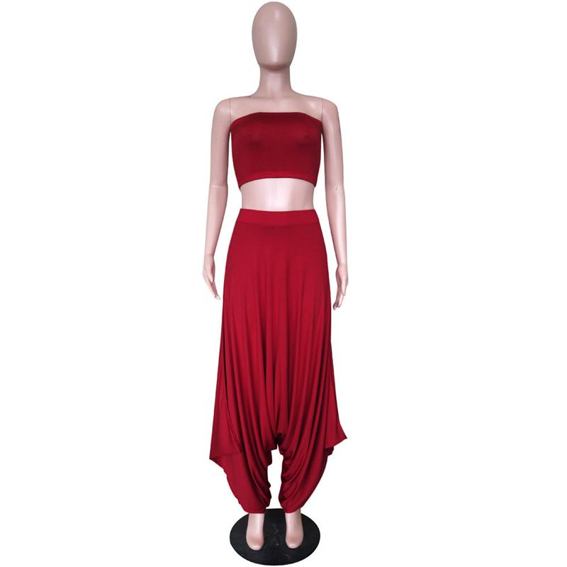 Two Piece Sets Women - red front
