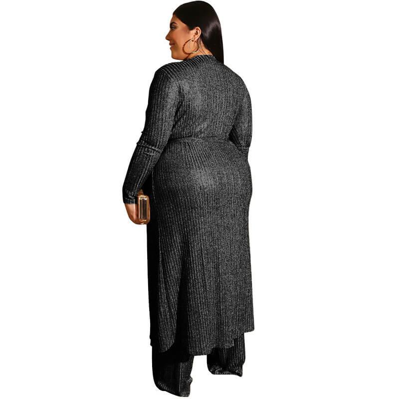 Large Three-piece Suit -  black back