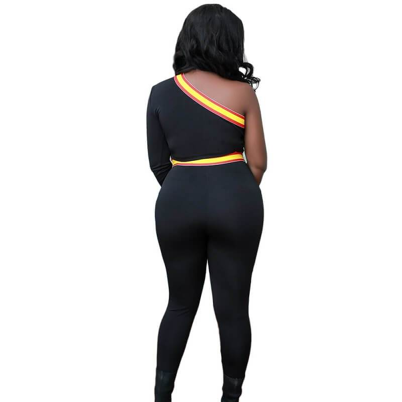 One Shoulder Two Piece Set - back view