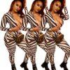 Black Striped Jumpsuit - main picture