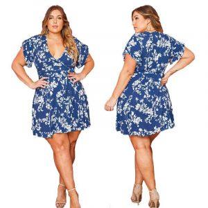 Plus Size Cocktail Dresses Cheap - blue main picture