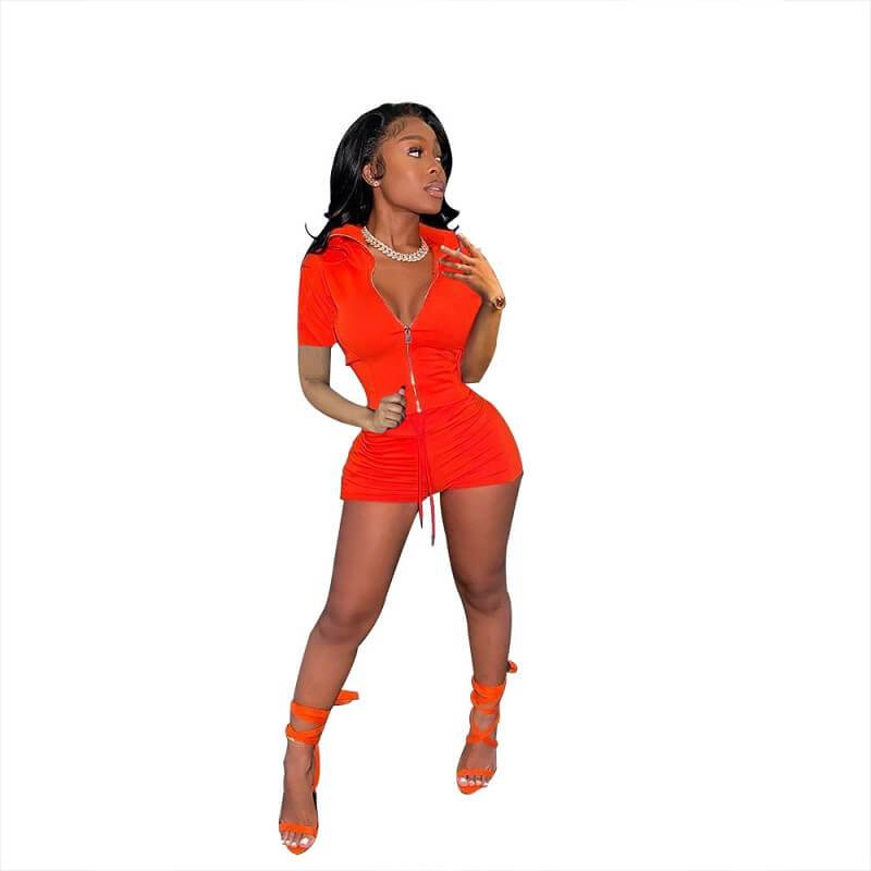 Big Red Plus Size Two Piece Short Set - red color