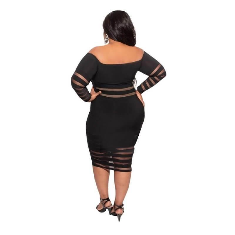 Cheap Plus Size Summer Dresses - black back