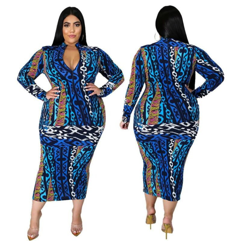 Plus Size Dresses Under 100 - blue main picture