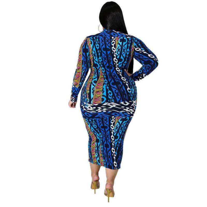 Plus Size Dresses Under 100 - blue back