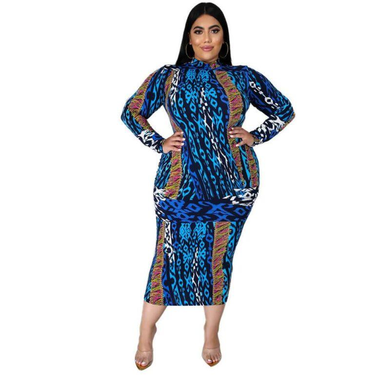Plus Size Dresses Under 100 - blue positive