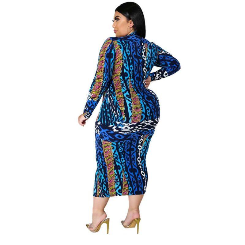 Plus Size Dresses Under 100 - blue side