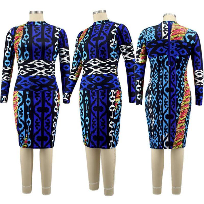 Plus Size Dresses Under 100 - blue model picture