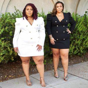 Plus Size Blazer Dress - two colors