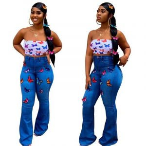 Skinny Plus Size Jeans - blue main picture