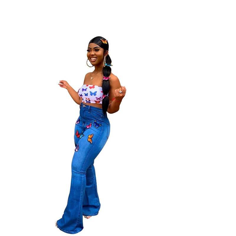 Skinny Plus Size Jeans - blue side