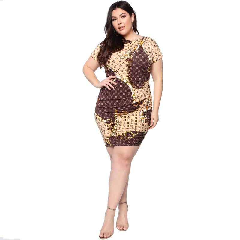 Formal Dresses For Plus Size Women - yellow whole body