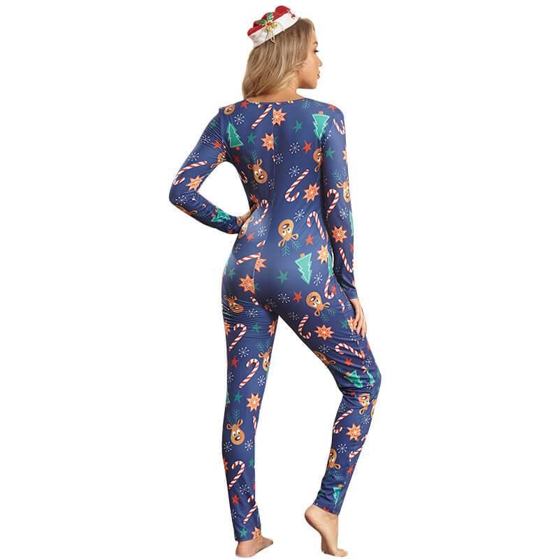 Womens Plus Jumpsuit - blue back