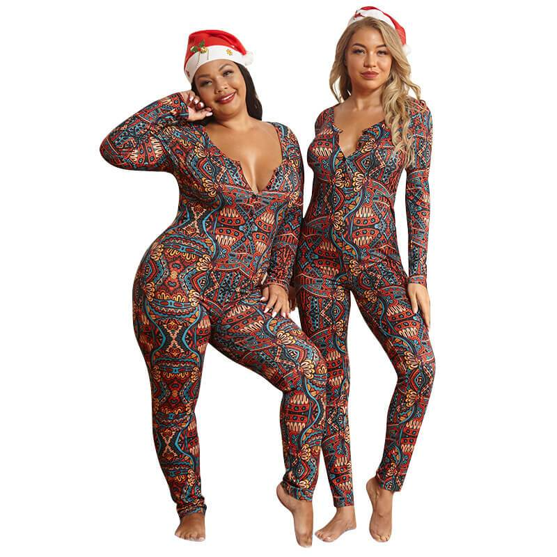 Plus Size Boho Jumpsuit - colorful positive