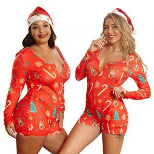Plus Size Christmas Fashion Jumpsuit - main picture
