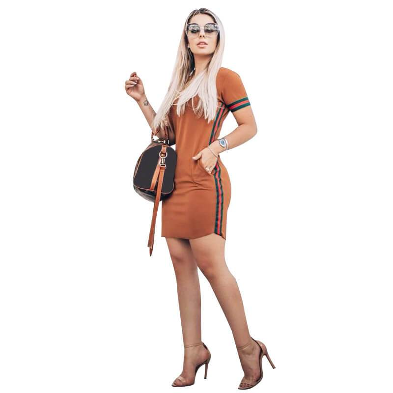 Casual Dresses for Women - coffee color