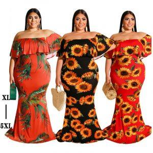 plus size bohemian dress- main picture
