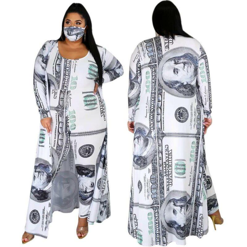 Plus Size Dollar Jumpsuit Ladies Suit - main picture