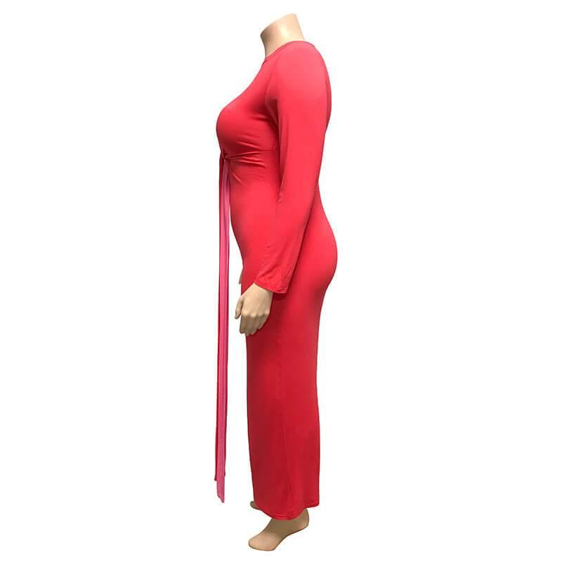 Plus Size Wedding Guest Dresses - red left