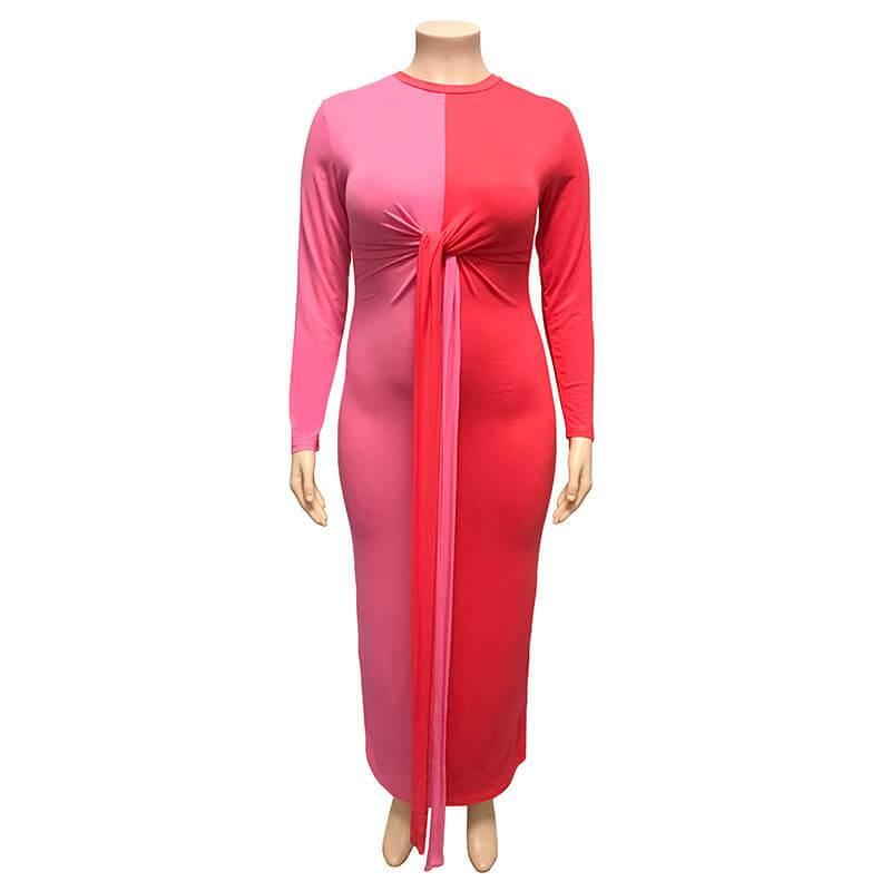 Color Plus Size Wedding Guest Dresses -  red positive