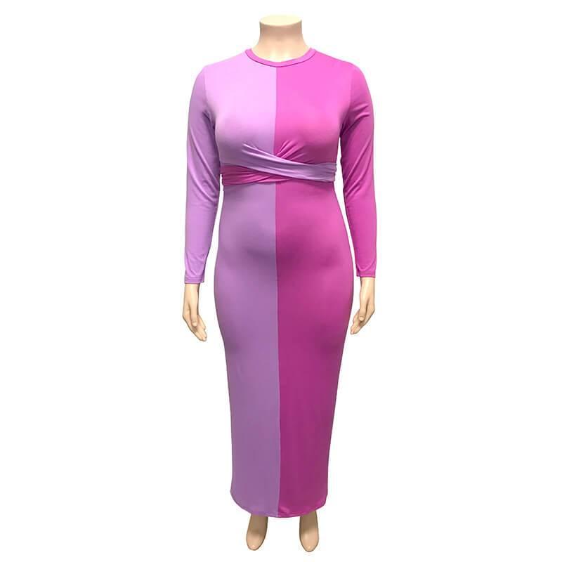 Plus Size Wedding Guest Dresses - purple positive
