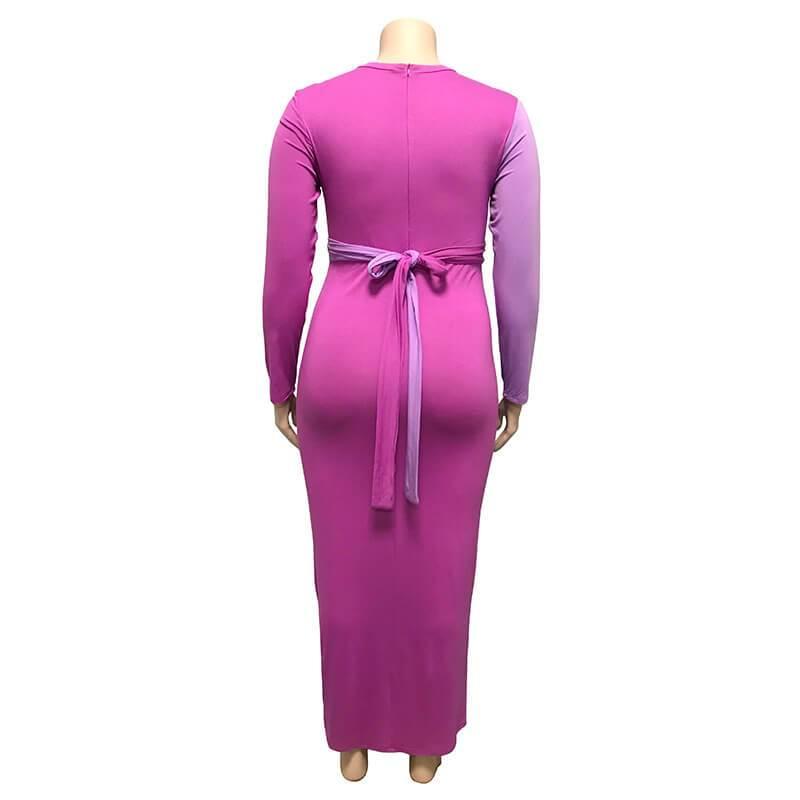 Plus Size Wedding Guest Dresses - purple back