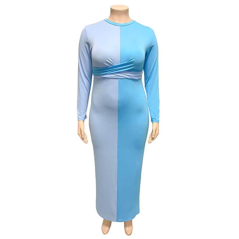 Plus Size Wedding Guest Dresses - sky blue positive