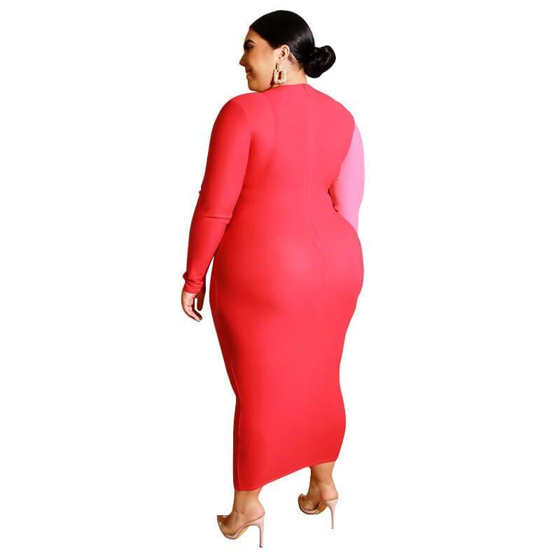 Color Plus Size Wedding Guest Dresses -  red back