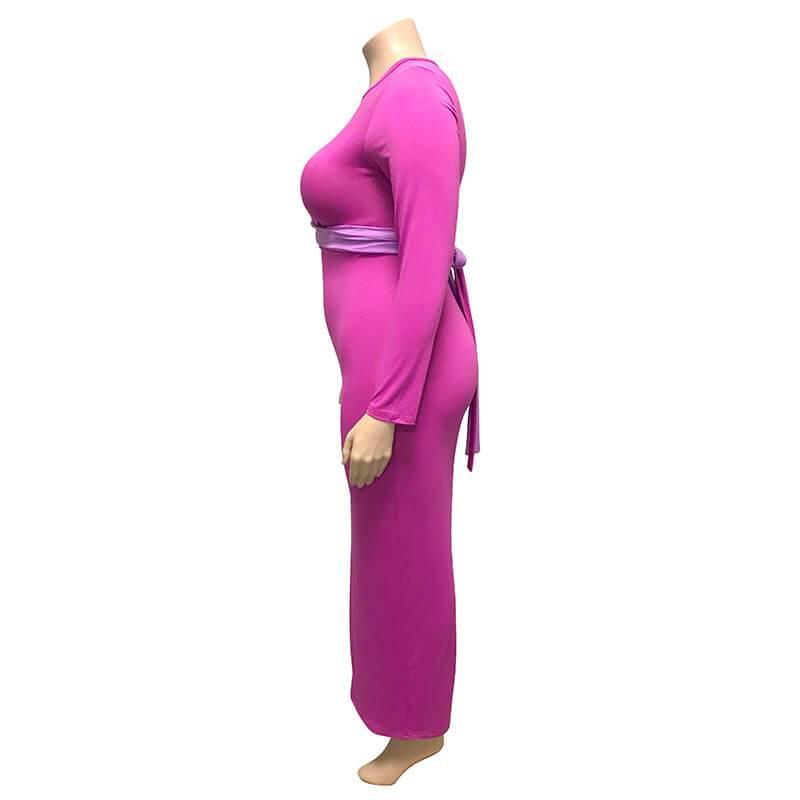 Plus Size Wedding Guest Dresses - purple left