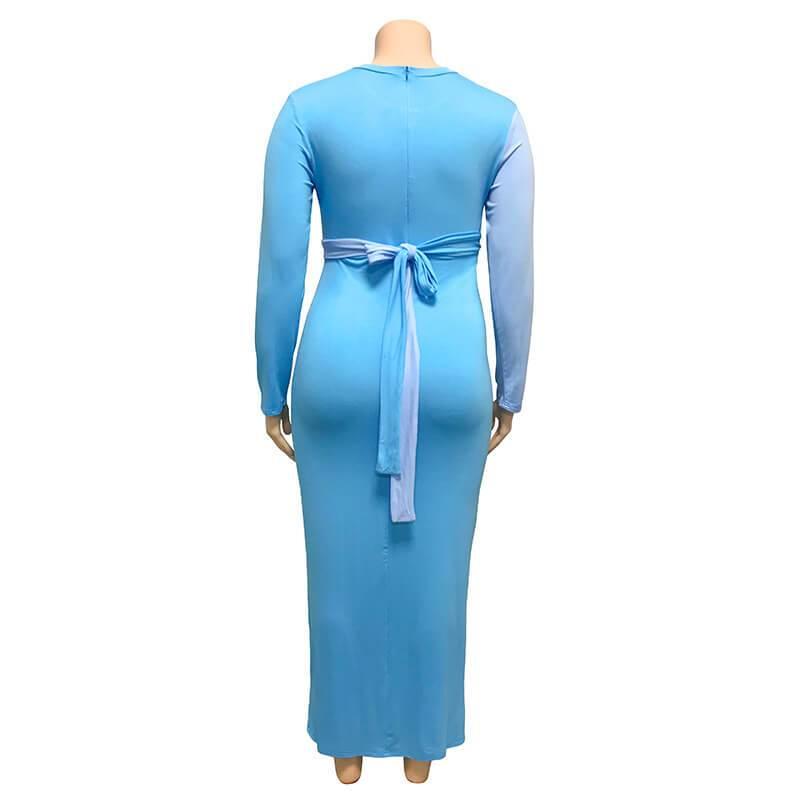 Plus Size Wedding Guest Dresses - blue back