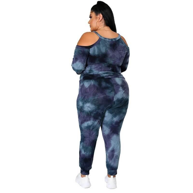 Plus Size Dye The Dark Suit - dark blue back