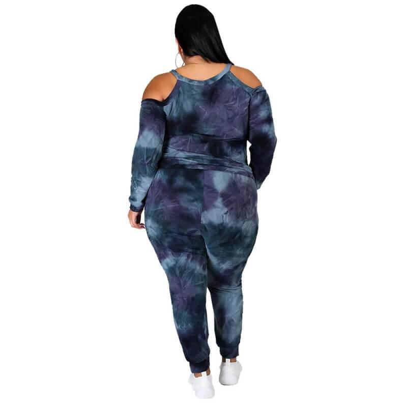 Plus Size Dye The Dark Suit - dark blue behind