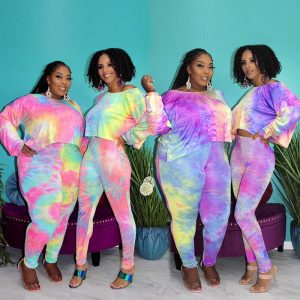 Plus Size Dye The Two-piece Set - main picture