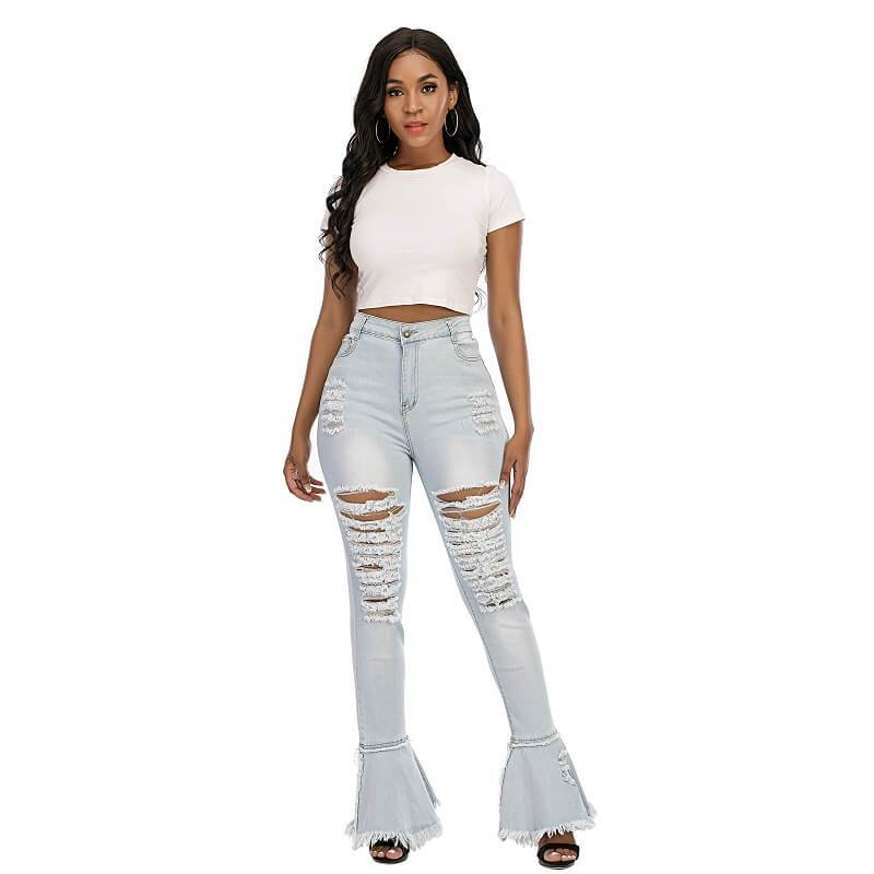 Plus Size Flare Jeans - light blue positive