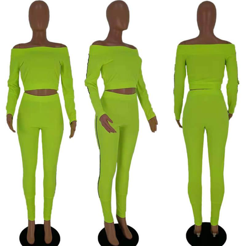 Two Piece Outfits - Green Color model