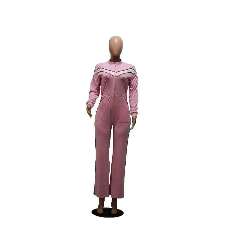 Pink Jumpsuit Womens - pink front