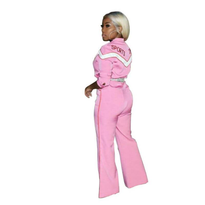 Pink Jumpsuit Womens - pink side