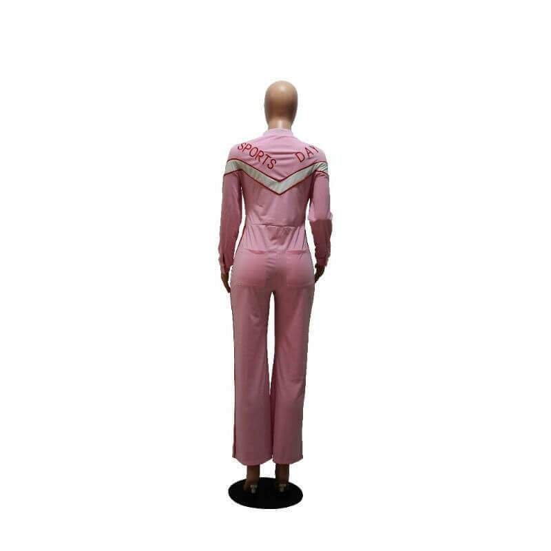 Pink Jumpsuit Womens - pink back